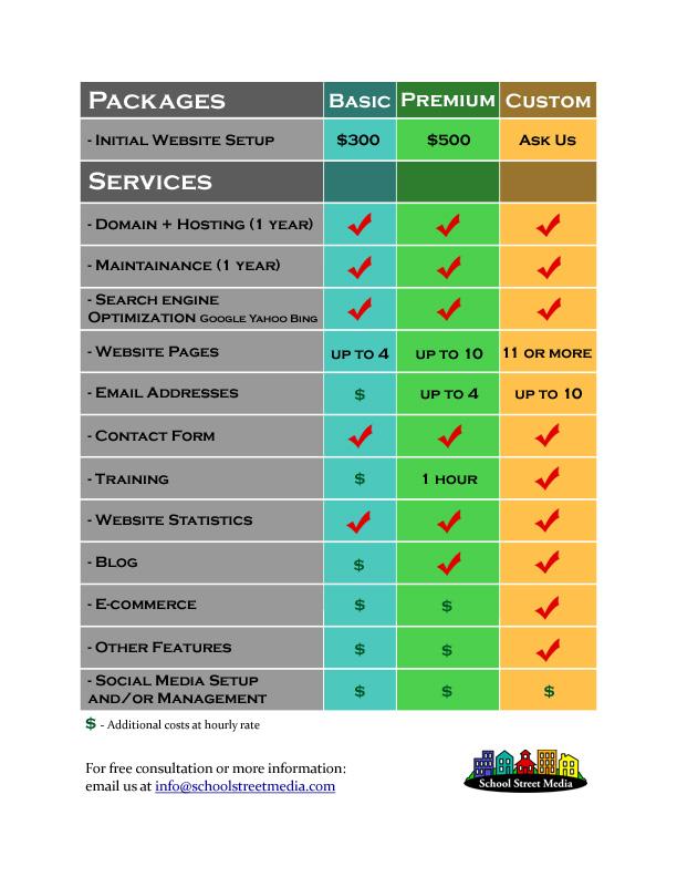 school street media pricing sheet web
